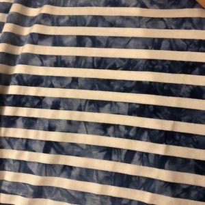 Skirts - Striped side-slit skirt